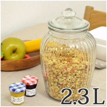 保存容器 アンティーククッキージャー ストッカー ガラス製 2.3L ( ガラス容器 キャニスター 保存瓶 ガラスジャー )