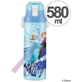 ■在庫限り・入荷なし■子供用水筒 アナと雪の女王 直飲み ワンプッシュステンレスボトル 580ml ロック付き ( ステンレスボトル 保冷 ステンレス製 )