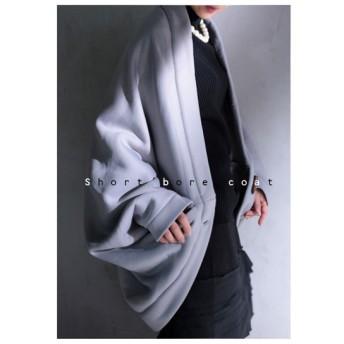 気軽に羽織れてあたたかい。ボアドルマンコート・再再販。トグルが可愛く大人顔にしてくれる。##「G」メール便不可
