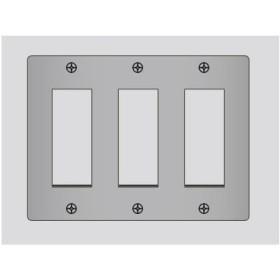 ###β神保電器 配線器具【BP-3S-3】ニューマイルドビー ステンレスプレート 3連用   受注生産
