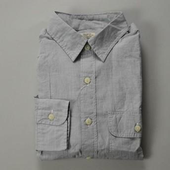 【スーパープライス】J.CREW / ジェイクルー / ウォッシュドエンドオンエンドキャンプシャツ / グレー