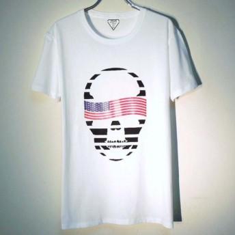 スカル USフラッグ Tシャツ / White
