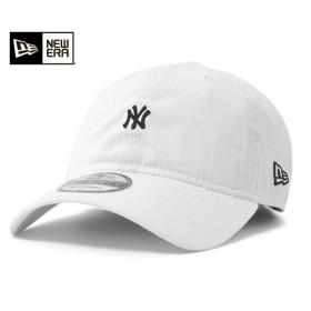 ニューエラ キャップ ストラップバック マイクロ ロゴ ニューヨーク ヤンキース ホワイト 帽子