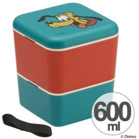 お弁当箱 シンプルランチボックス 2段 プルート タイムレスメモリー 600ml 角型 ベルト付き ( 弁当箱 食洗機対応 ランチボックス レンジ対応 )