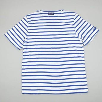 SAINT JAMES / セントジェームス / ショートスリーブ ストライプ Tシャツ / ホワイト×コバルトブルー