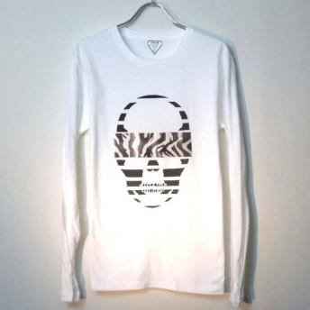 スカル ゼブラ ロングTシャツ / White