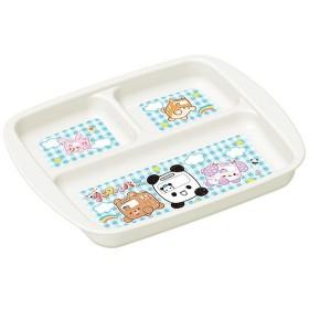 ランチプレート ランチ皿 ゆかいなアニマルバス プラスチック製 子供用 食洗機対応 レンジ対応 キャラクター 日本製 ( 子供用食器 食器 プレート )
