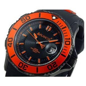 アバランチ AVALANCHE 腕時計 AV-1023S-OR オレンジ×ブラック