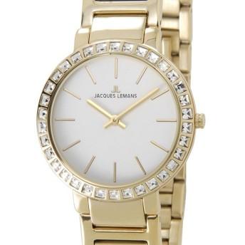 ジャックルマン ミラノ MILANO スワロフスキー クオーツ レディース 腕時計 1-1843E ホワイト