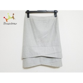 ニジュウサンク 23区 スカート サイズ36 S レディース グレー                 スペシャル特価 20191029