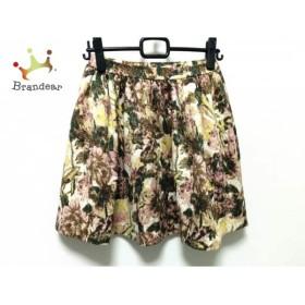 チェスティ Chesty スカート サイズ0 XS レディース 白×マルチ 花柄           スペシャル特価 20190629