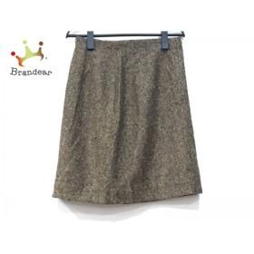 バレンチノ VALENTINO スカート サイズ8 M レディース ブラウン×黒           スペシャル特価 20190629