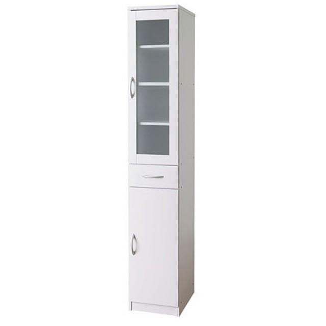 【法人限定】 キッチンキャビネット 食器棚 キッチンボード 引き出し付き ガラス扉 ガラス戸 開き戸 キッチン収納 食品ストッカー ハイタイプ ISK-1830