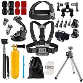 基本アクセサリーキット Goproカメラ対応 46個入り 大人気セット ユニバーサル スポーツ 撮影用品