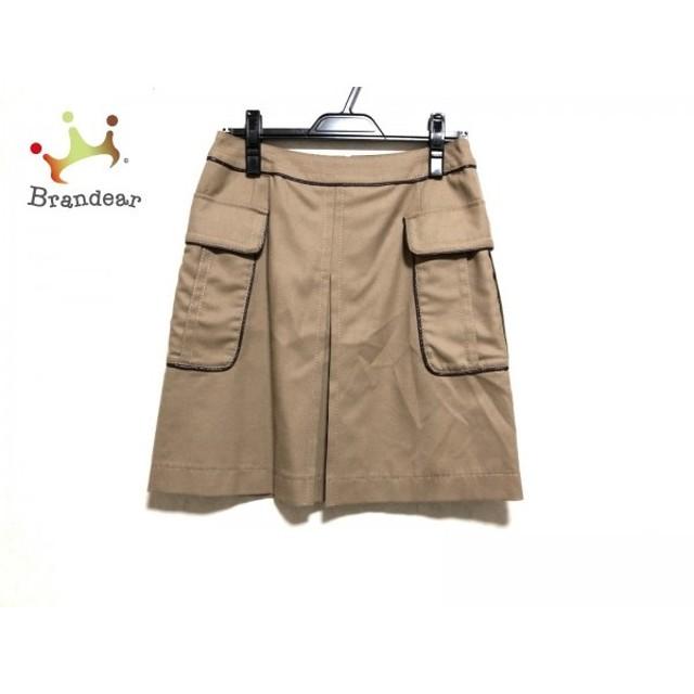 トゥモローランド TOMORROWLAND スカート サイズ36 S レディース ベージュ×ダークブラウン                 スペシャル特価 20190419