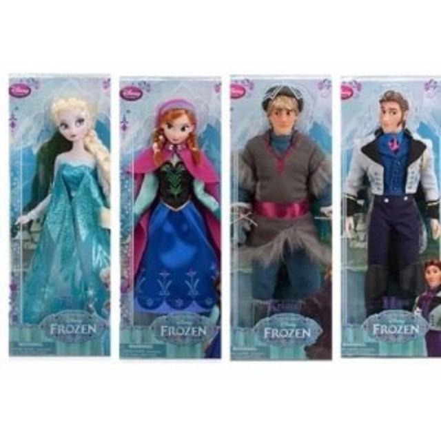 アナと雪の女王 4体セット Disney Frozen Complete Set Classic Authentic Disney Store Dolls Featur