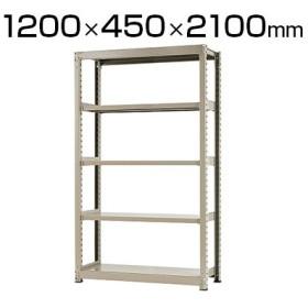 本体 スチールラック 中量 500kg-単体 5段/幅1200×奥行450×高さ2100mm/KT-KRL-124521-S5