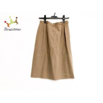 レリアン Leilian スカート サイズ11 M レディース 美品 ベージュ               スペシャル特価 20191025