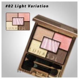 ♪ #02Light Variation LUNASOL ルナソル オーロライズアイズ 02Light Variation<パウダーアイシャドウ><カネボウ><Light Variation>
