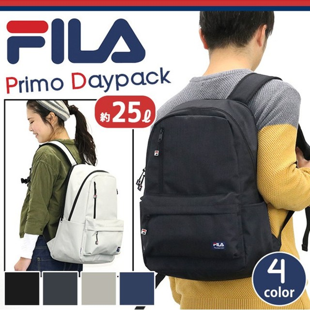 FILA フィラ プリモ リュック デイパック リュックサック バックパック メンズ レディース 男女兼用 ブラック ネイビー