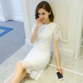 【送料無料】 パーティードレス 結婚式 ドレス 膝丈 半袖 お呼ばれ 結婚式 二次会 フォーマル 大きいサイズ 20代30代40代 大人