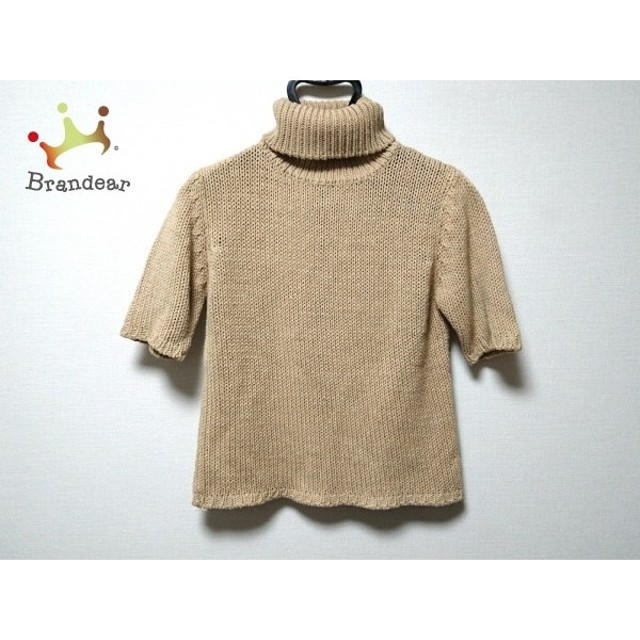 ホコモモラ JOCOMOMOLA 半袖セーター サイズ40 XL レディース 美品 ベージュ タートルネック               スペシャル特価 20190305