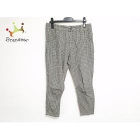 クロス&クロス Cloth&Cross パンツ サイズ2 M レディース 黒×ベージュ チェック柄             スペシャル特価 20190809