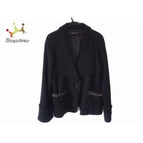 クリスセリーン CHRISCELIN コート サイズ44 L レディース 黒 冬物/ショート丈/ビジュー           スペシャル特価 20190819