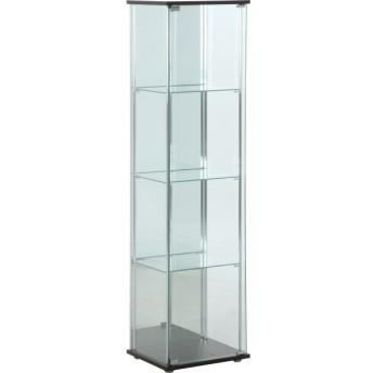 コレクションケース ガラスコレクションケース ガラス ディスプレイ ディスプレイラック ガラスケース 4段 背面ミラー付 TMG-G21-G