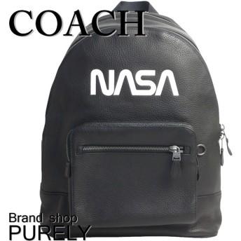 全品ポイント2倍 コーチ バッグ メンズ COACH レザー スペース モチーフ ウエスト バック パック リュック サック F29039 QB/BK ブラック