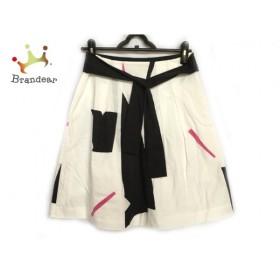 セオリー theory スカート サイズ2 S レディース 白×黒×ピンク                 スペシャル特価 20191029