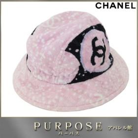 52c2b777774e シャネル CHANEL パイル地 コットン 100% ハット 帽子 ピンク Lサイズ
