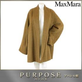 マックスマーラ MaxMara コート アウター ロング アルパカ ブラウン 40 サイズ レディース