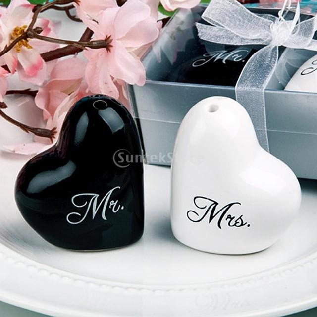スパイス瓶 ハート型 黒と白 ギフト ウェディングキット パーティー 結婚式