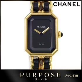 cc9a1fe3eb シャネル CHANEL プルミエール Lサイズ H0001 レディース 腕時計 ブラック 黒 文字盤 ゴールド クォーツ ウォッチ