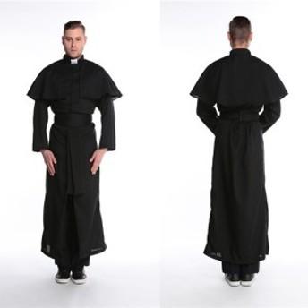コスプレ 教会 ハロウィン 衣装 コスチューム 司祭仮装 cosplayコスプレ costume メンズ M/XL cos cos-m wsc-170809-43