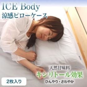 【送料無料】【代引不可】 涼感ピローケース 枕カバー アイスボディ ICE Body 2枚組み 43×63cm /