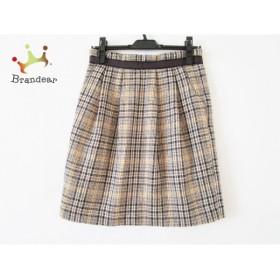 エンターテイナー Entertainer スカート サイズ38 M レディース 美品 アイボリー×黒×ブラウン         スペシャル特価 20190331