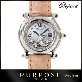 62f70f1a0fd4 ショパール Chopard ハッピースポーツ ムーン スター ダイヤ レディース 腕時計 27 8245 21 ホワイトシェル 文字盤