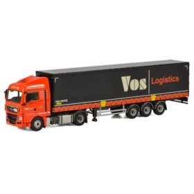 取寄せ 1/50 WSI 01-1855 Vos Logistics MAN TGX XLX Curtainside Trailer (3 axle)