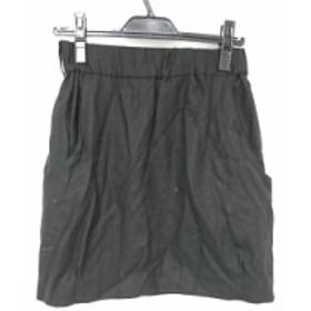アナトリエ anatelier ミニスカート サイズ4 XL レディース ブラック【中古】
