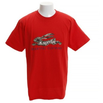 クリフメイヤー(KRIFF MAYER) ロゴTシャツ CAMO 1819906-2-RED (Men's)