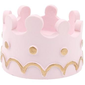 ノーブランド品 可愛い クラウン形状 ロウソクスタンド キャンドルホルダ結婚式 誕生日 クリスマスパーティー 装飾 ピンク
