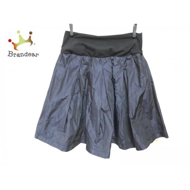 ミラオーウェン Mila Owen スカート サイズF レディース 美品 ダークネイビー×黒               スペシャル特価 20190804