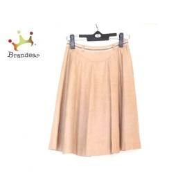 クリスタルシルフ CrystalSylph スカート サイズ36S レディース 美品 ベージュ×ブラウン×白                   スペシャル特価 20190403