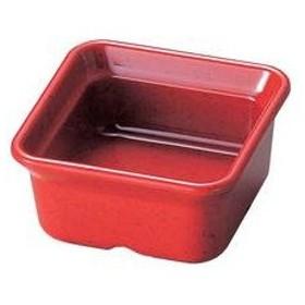 若泉漆器  バイキング角小鉢 赤