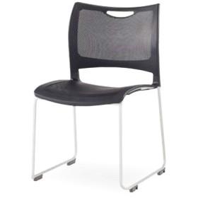 スタッキングチェア 4脚セット ミーティングチェア 会議イス 樹脂製 メッシュ 軽量 積み重ね オフィス 会議 講義 学校 授業 椅子 チェア 送料無料 MC-MKT01S