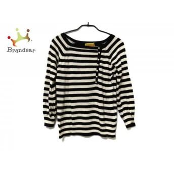 ホコモモラ JOCOMOMOLA 長袖セーター サイズ40 XL レディース 白×黒 ボーダー スペシャル特価 20190430