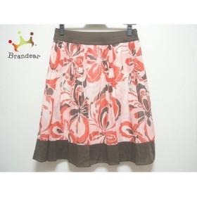 アプワイザーリッシェ スカート サイズ2 M レディース レッド×ピンク×ダークブラウン 花柄                   スペシャル特価 20190728