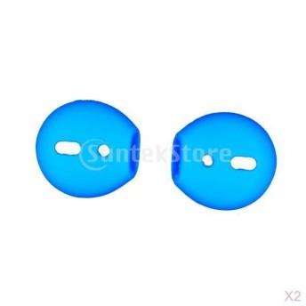 Fenteer Apple AirPods/iPhone 7に対応 イヤホンパッド カバー イヤーピース イヤーチップ 柔らかい シリコン 青 2組
